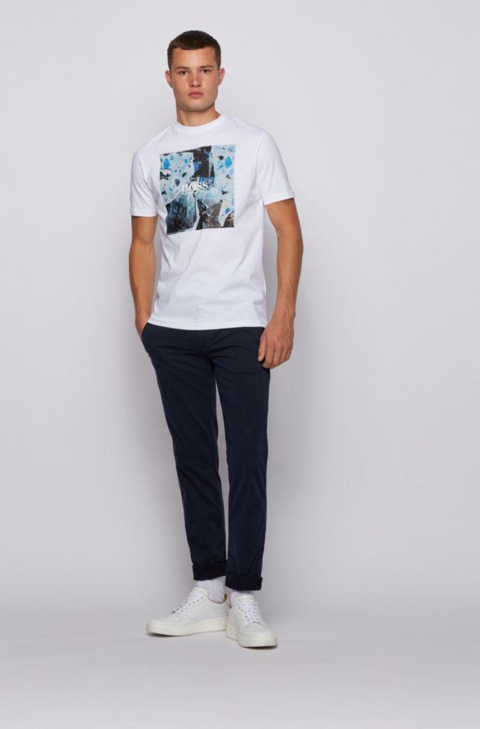 T-Shirt aus Baumwoll-Jersey mit PVC-freiem Grafik-Print