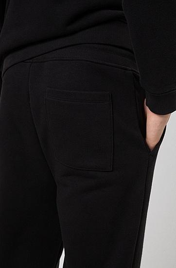 环保棉混纺抓绒休闲裤,  001_黑色