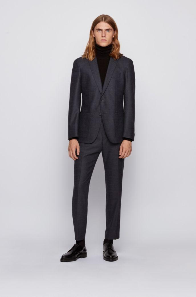 Slim-fit jacket in a melange wool blend