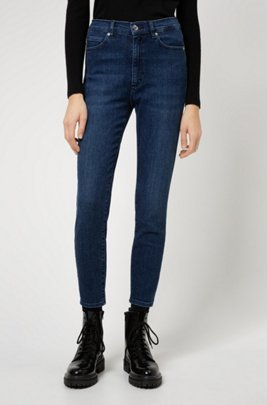 LOU skinny-fit jeans in sustainable stretch denim, Blue