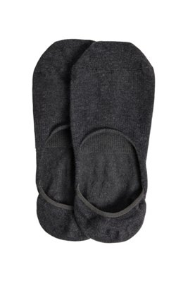 Two-pack of invisible socks with silicone grip, Dark Grey
