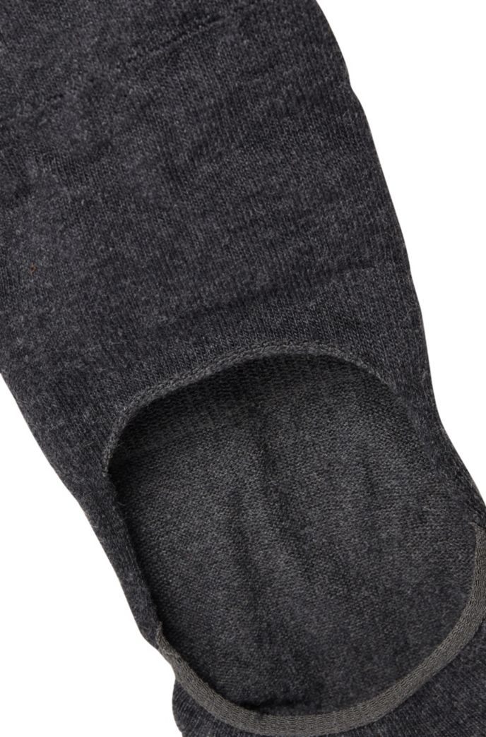 Two-pack of invisible socks with silicone grip