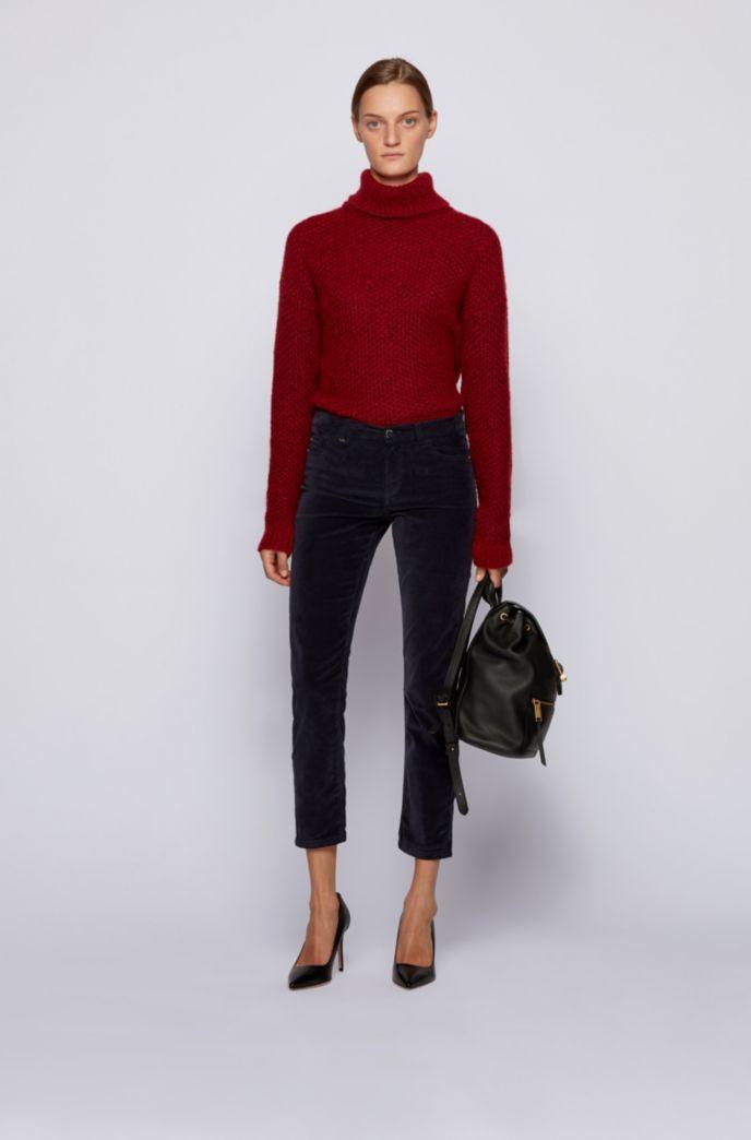 Slim-fit jeans in Italian stretch-cotton velvet