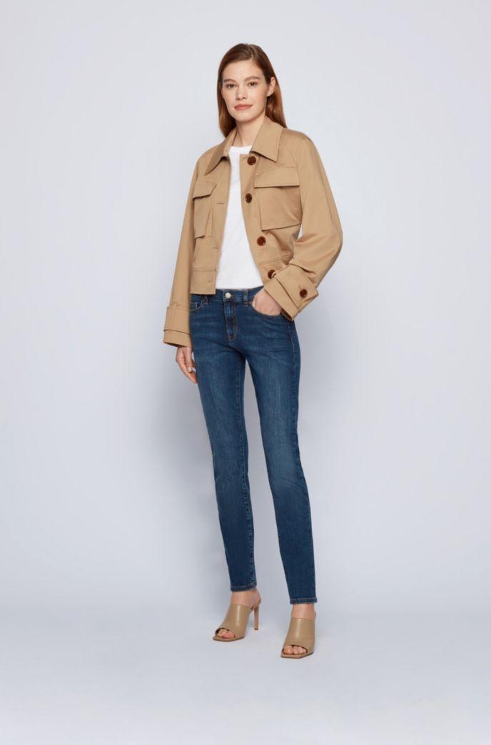 Slim-fit jeans in mid-blue super-stretch denim