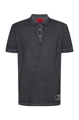 Stückgefärbtes Poloshirt aus recot²®-Baumwoll-Piqué, Silber