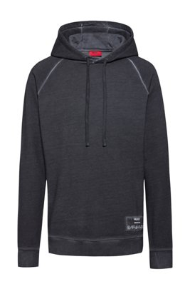 Relaxed-Fit Kapuzen-Sweatshirt aus recot²® French Terry, Silber