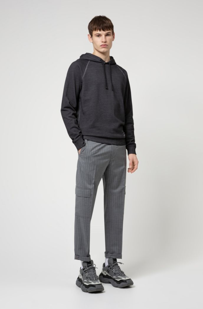 Relaxed-fit hooded sweatshirt in Recot2® French terry