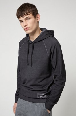 Relaxed-fit hooded sweatshirt in Recot2® French terry, Silver