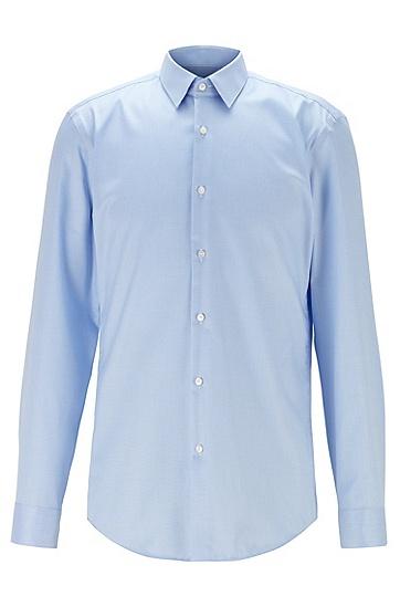 男士纯棉修身衬衫,  451_浅蓝色