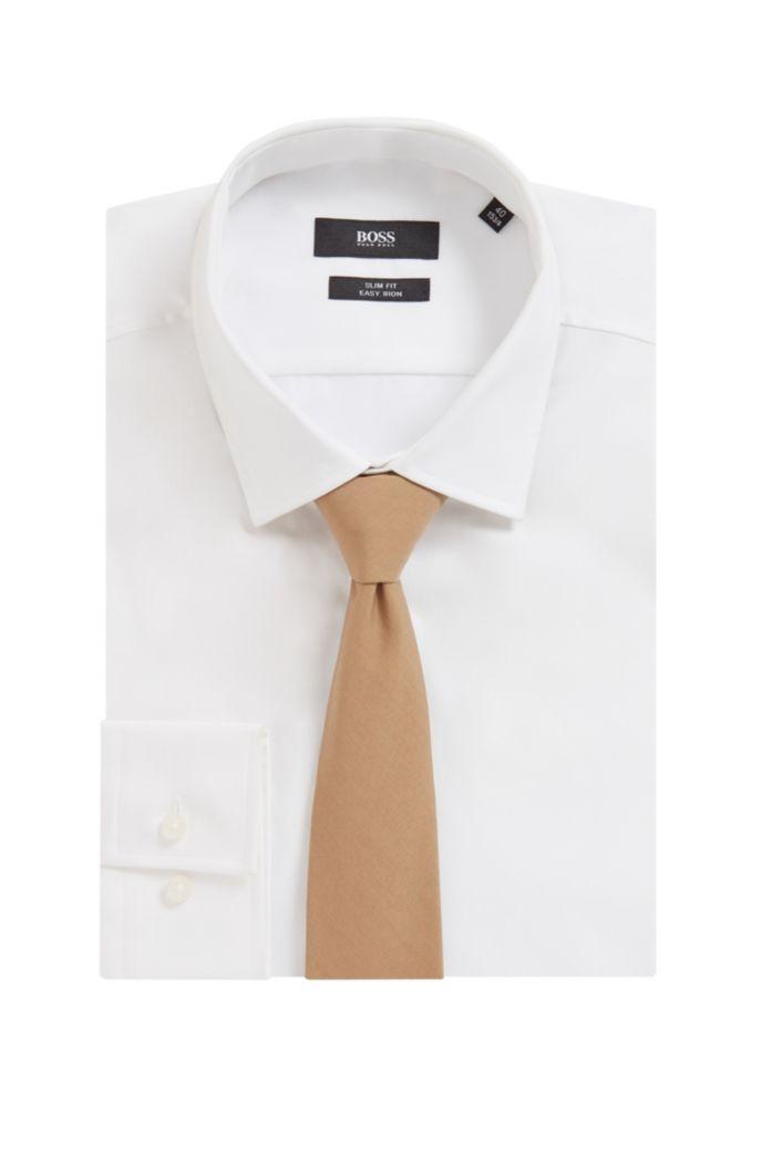 In Italië vervaardigde stropdas met effen weefpatroon