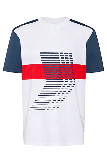 HUGO x Liam Payne联名系列主题图形印花棉质男女同款 T 恤,  100_白色