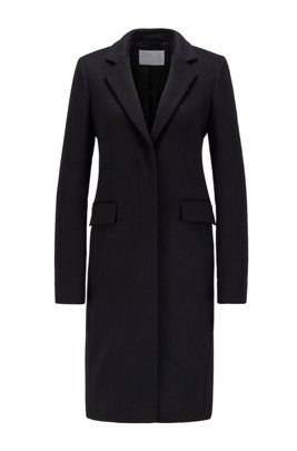 Formal coat in Italian virgin wool with cashmere, Black