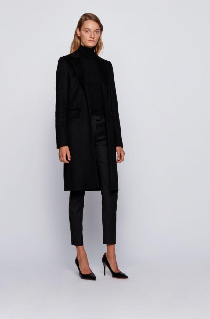 Manteau habillé en laine vierge italienne à teneur en cachemire