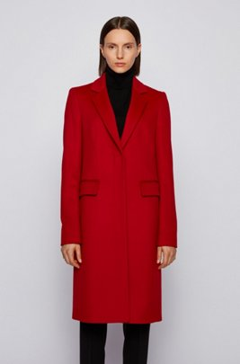 Formal coat in Italian virgin wool with cashmere, Red