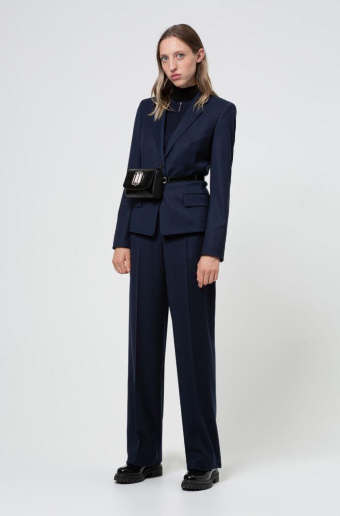 Veste Regular Fit en flanelle de laine vierge stretch