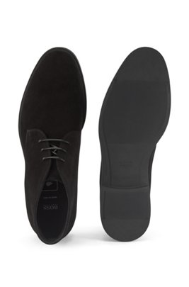 Italian-made desert boots in suede with Outlast® lining, Black