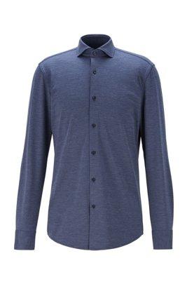 Slim-Fit Hemd aus italienischem Stretch-Funktionsgewebe, Hellblau