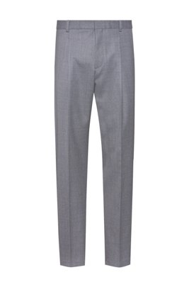 Relaxed-fit trousers in wool-blend twill, Grey