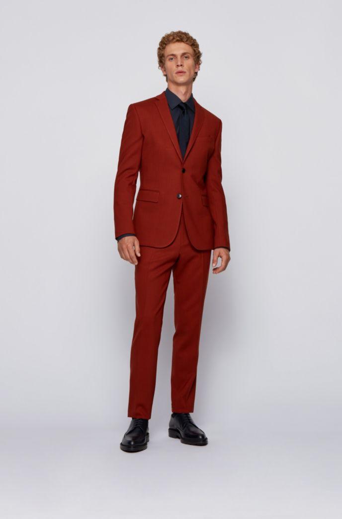 Chemise Slim Fit en coton italien avec patte de boutonnage à logos