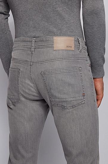 男士灰色弹力牛仔裤,  030_中灰色