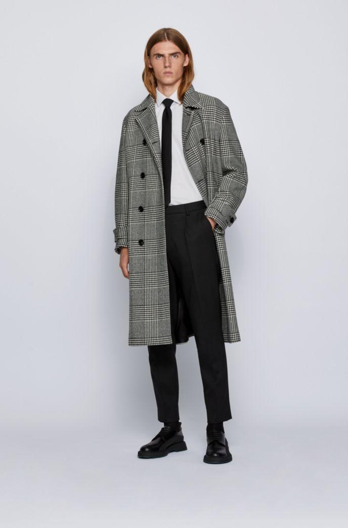 Slim-fit shirt in easy-iron Austrian cotton