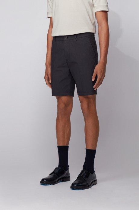Slim-fit short van een katoenmix, Donkerblauw
