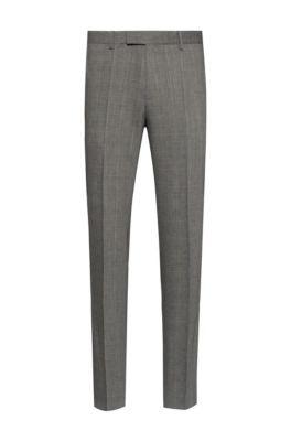 Pantalon Extra Slim Fit en laine mélangée performante, Argent