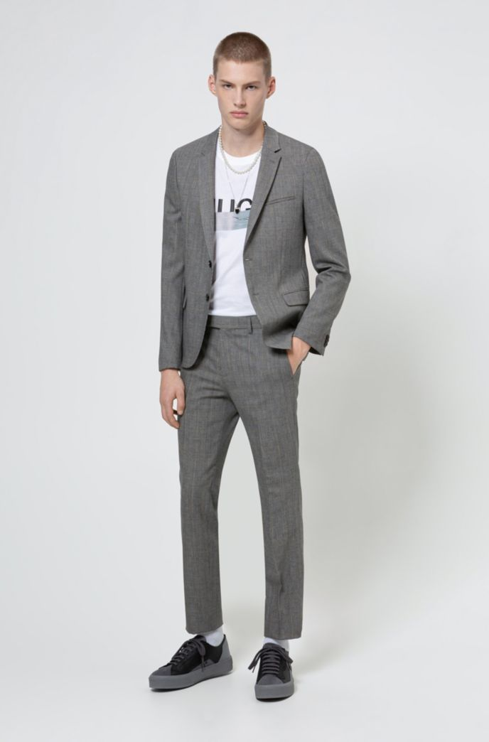Extra-slim-fit trousers a performance wool blend