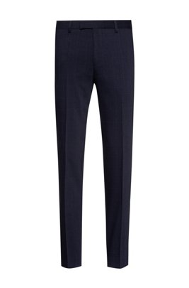 Extra-slim-fit trousers a performance wool blend, Dark Blue