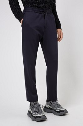 Extra-slim-fit trousers in stretch fabric, Dark Blue
