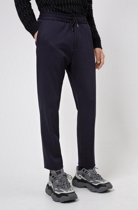 Extra slim-fit broek van stretchmateriaal, Donkerblauw