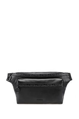 Sac ceinture en similicuir avec bande zippée HUGO 93, Noir