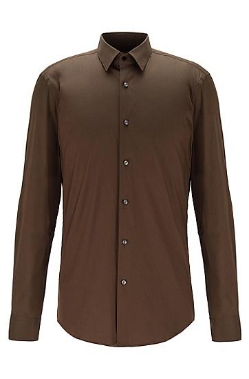 男士修身衬衫,  341_淡绿色