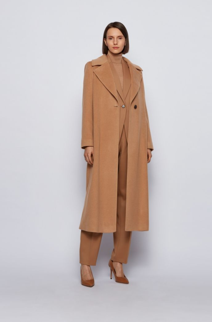 Relaxed-fit coat in recycled cashmere with wool