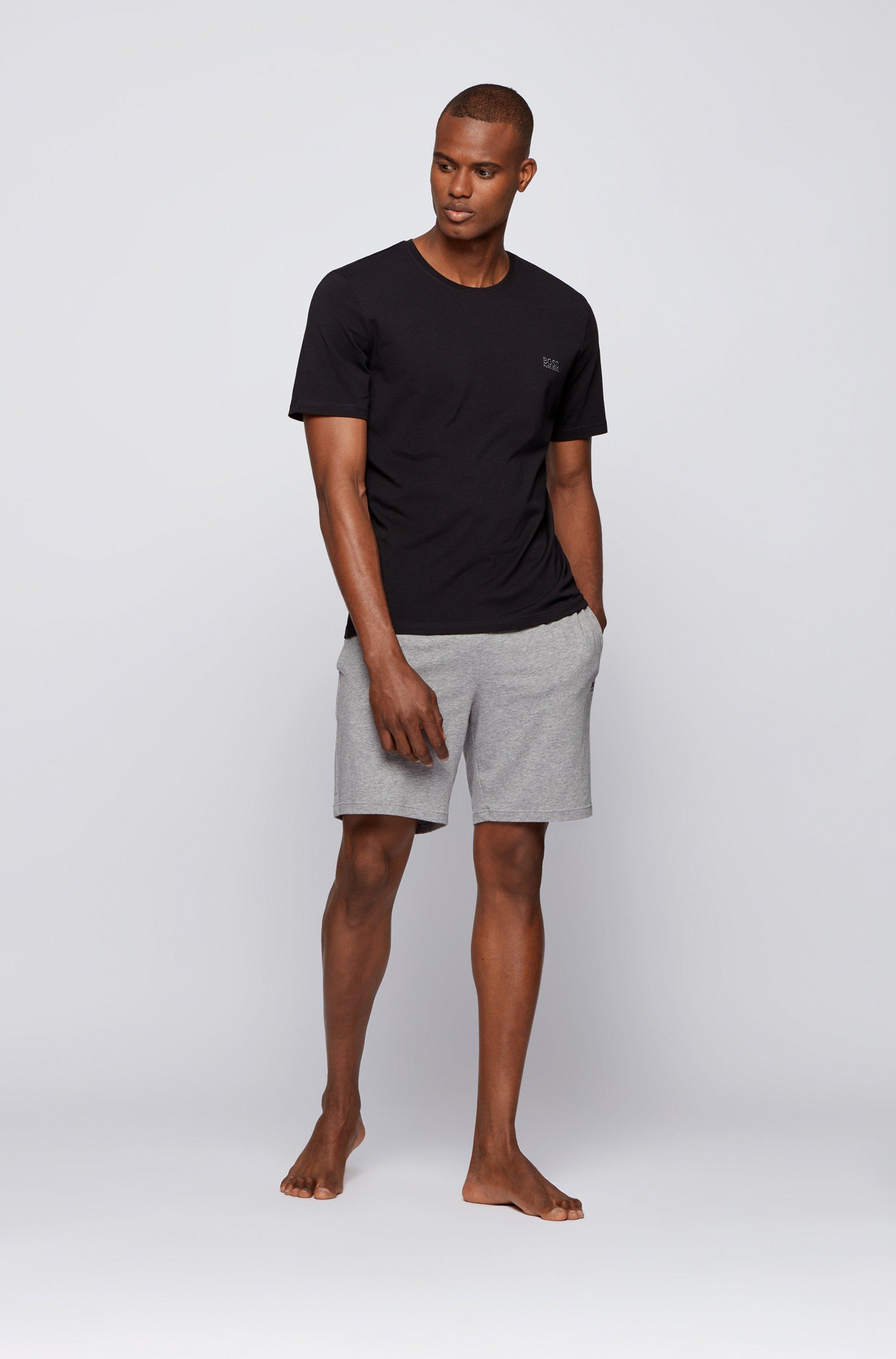 Loungewear-Shorts aus Stretch-Baumwolle mit Logo-Stickerei