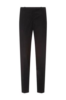 Pantalones slim fit en mezcla de lana virgen, Negro