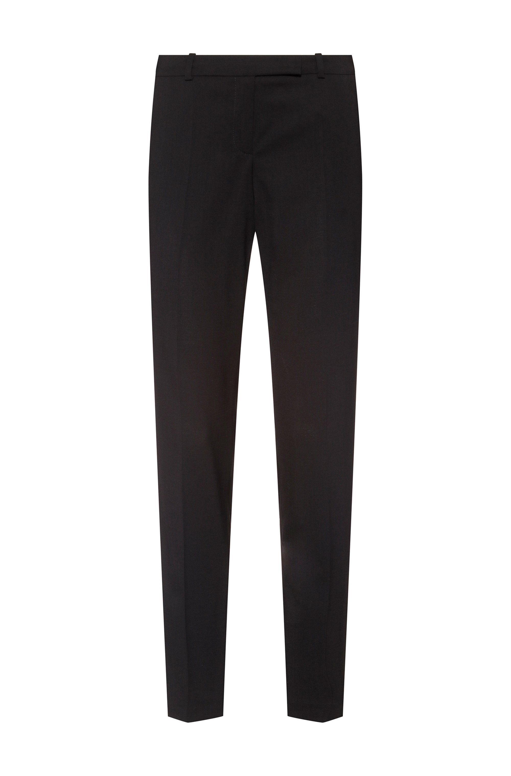 Slim-fit trousers in a virgin-wool blend, Black