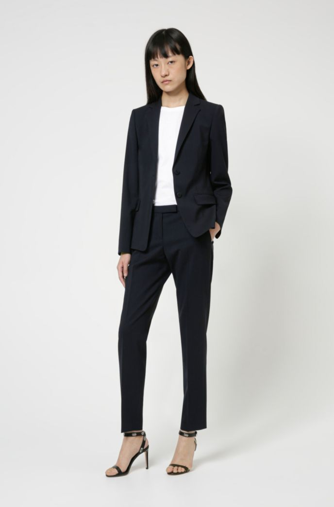 Slim-fit trousers in a virgin-wool blend