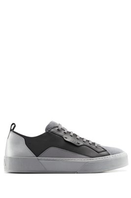 Hybrid-upper trainers with bamboo-charcoal lining, Dark Grey