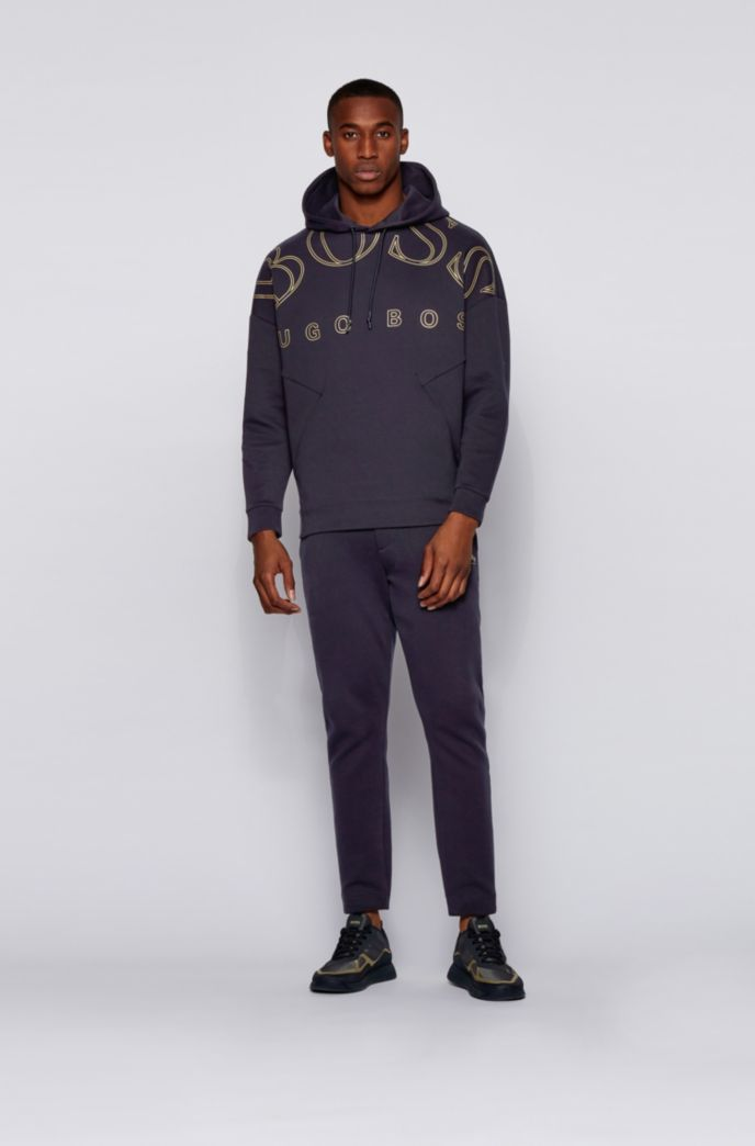 Relaxed-fit hoodie in a super-soft cotton blend