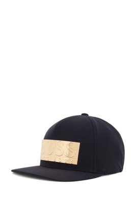 Limited-edition cap with gold-plated logo plaque, Dark Blue