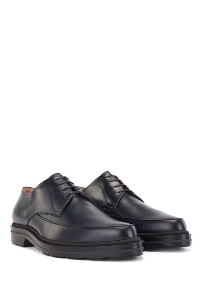 Zapatos Derby fabricados en Italia con piel lisa