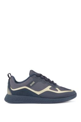 Hybrid trainers with suede overlays, Dark Blue