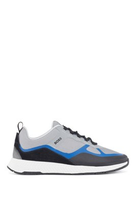 Hybrid trainers with suede overlays, Light Blue