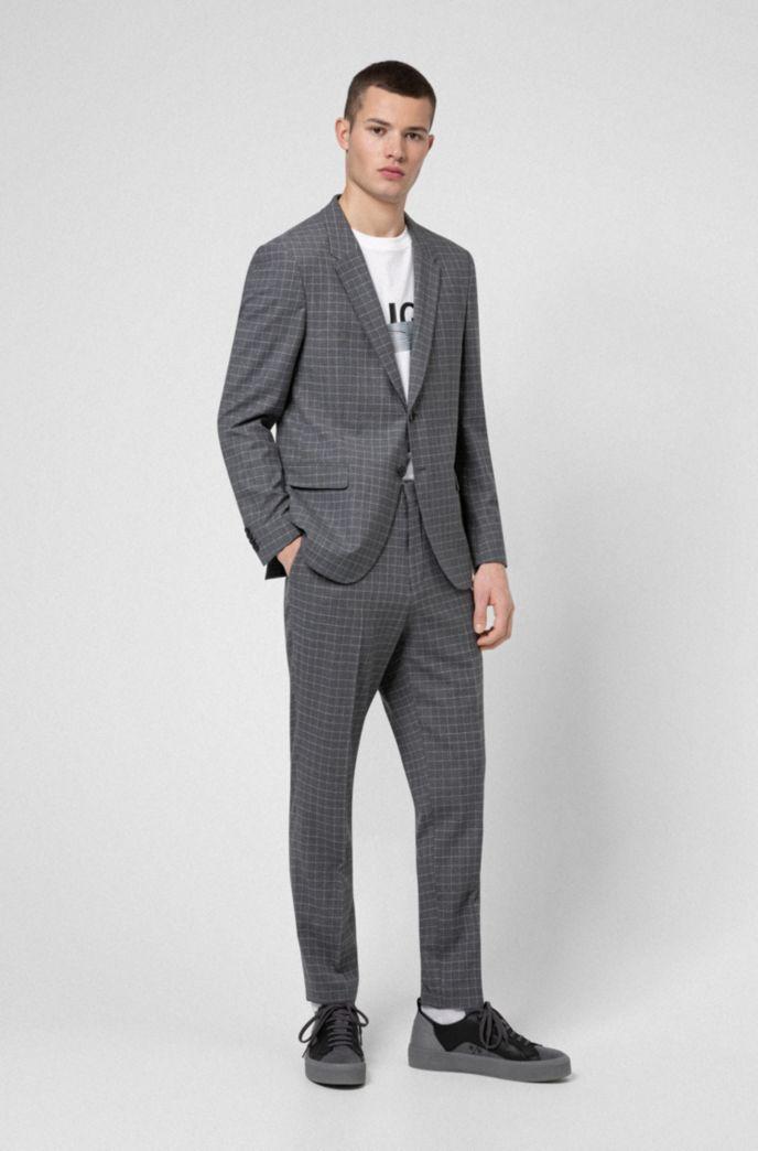 Slim-fit jacket in bi-stretch patterned fabric