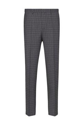 Slim-fit broek van materiaal met tweezijdige stretch en dessin, Zilver