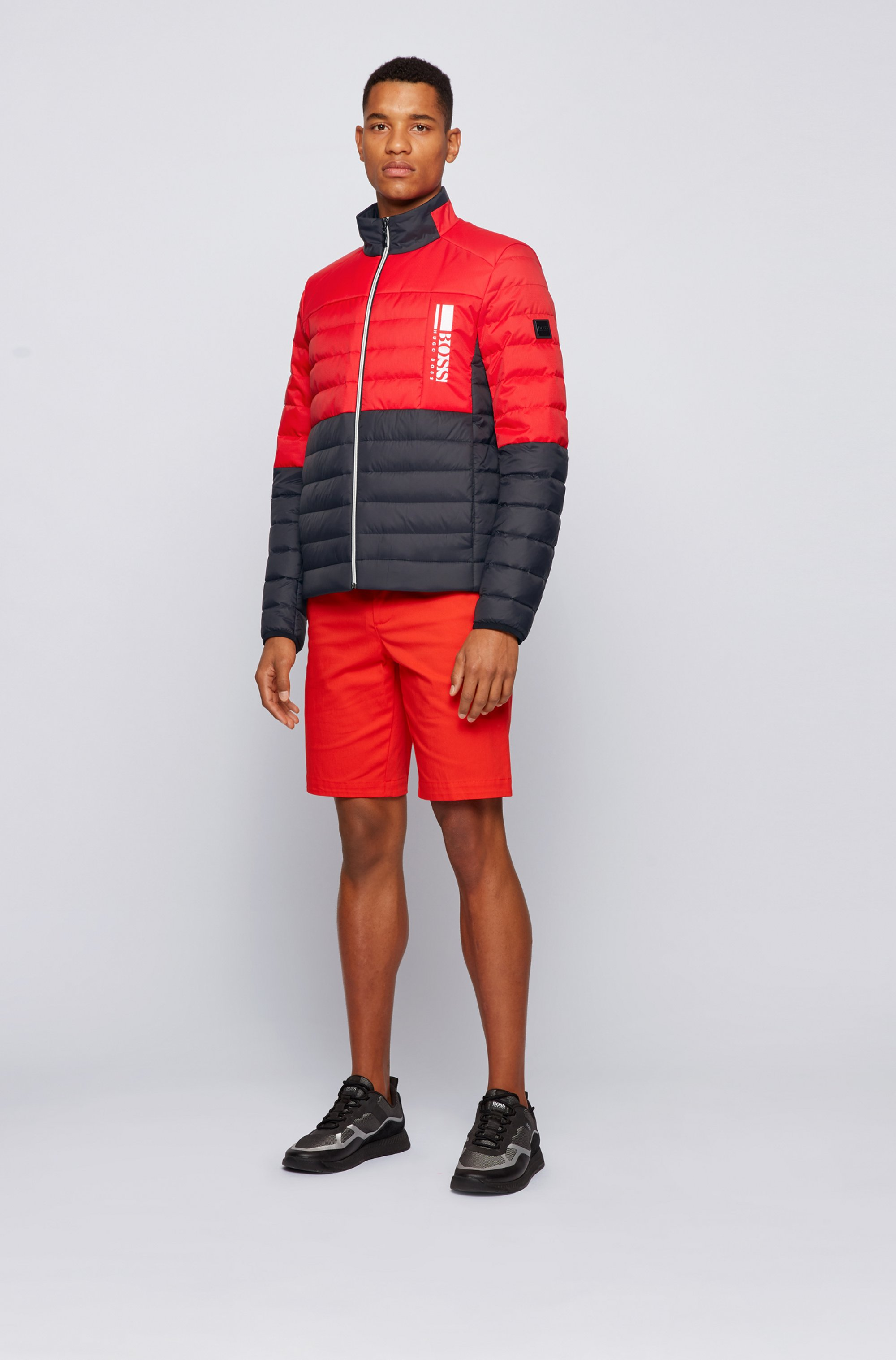 Lightweight down jacket with water-repellent finish
