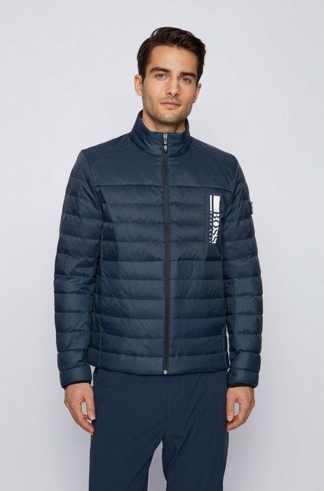 Lightweight down jacket with water-repellent finish, Dark Blue