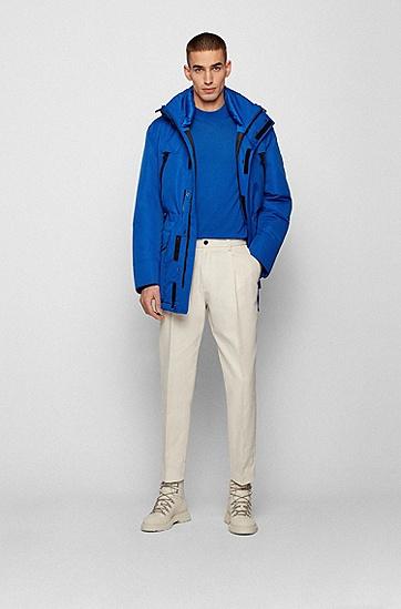 常规版型防水面料羽绒派克大衣,  463_淡蓝色