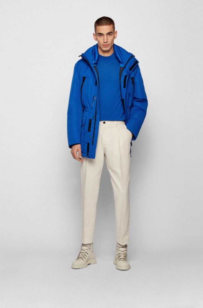 Regular-fit down-filled parka in water-repellent fabric